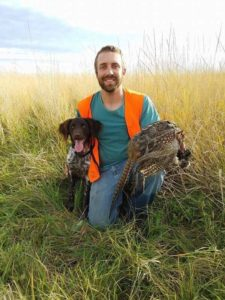 Atlas on his first pheasant hunt just coming 6 months of age.